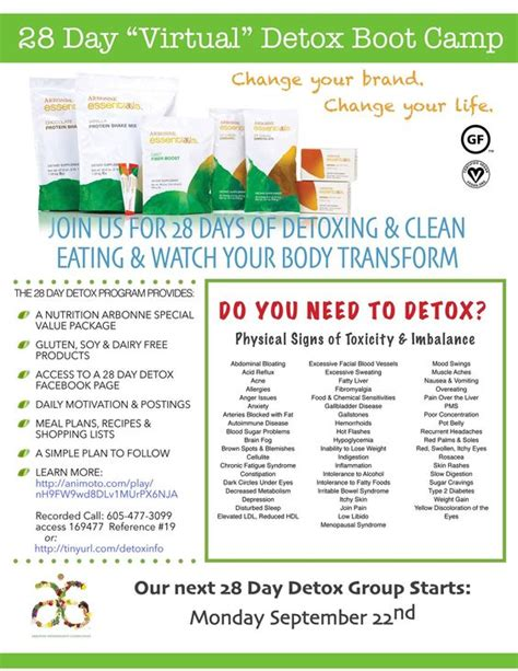 The 30 Day Detox Summary by Arbonne Detox Arbonne And Healthy Living On