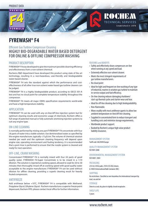 Rochem Fyrewash F1 www rightsolution co th