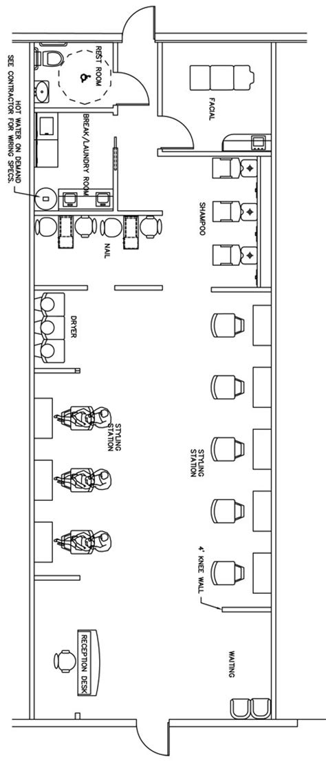design a beauty salon floor plan beauty salon floor plan design layout 1400 square foot