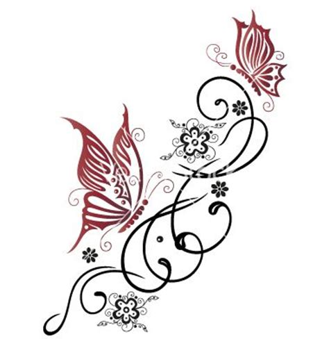 tattoo 3d vector tribal flower butterfly tattoo style vector 1534755 by