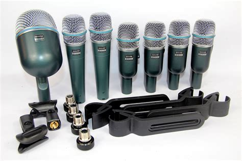 Mic Drum Shure Betadmk 7 Kit drum instrument microphone kit 7 mic dmk7 betadmk7 wired microphone with carry 2pcsx 57a
