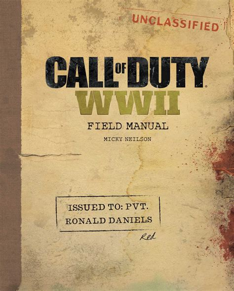wwii picture books call of duty wwii field manual book by micky neilson