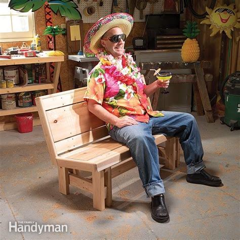 how to make a patio bench how to build a bench the family handyman