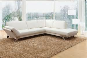 divani casa lidia modern white italian leather sectional
