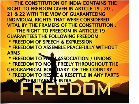 sections in indian constitution fundamental rights presentation