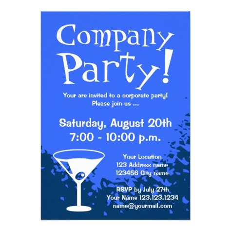 invitation design company names corporate party invitations
