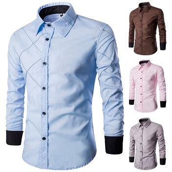 Kemeja Blueline baju kemeja lelaki corak line separuh pejabat kasual ceo kedaionlinemy