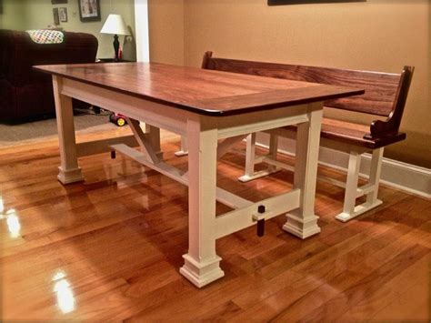 farm style bench with back farmhouse table cz woodworking