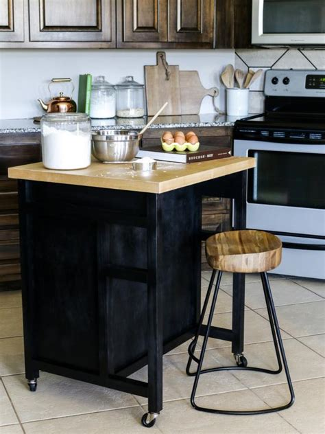 how to build a kitchen island how to build a diy kitchen island on wheels hgtv