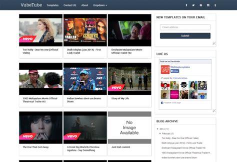 blogger themes for movie site vubetube blogger template responsive video blogger theme