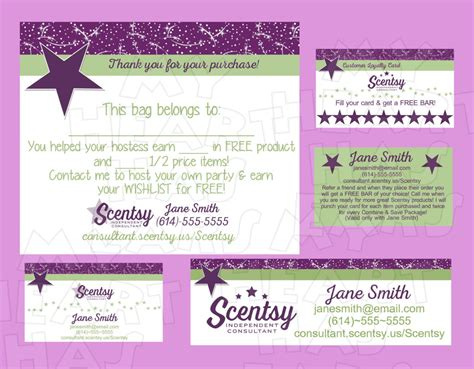 scentsy business card template business card sle