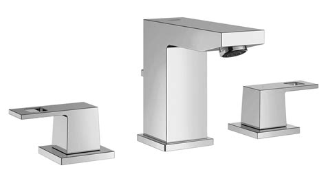 Grohe Eurocube Deck Mounted 3 Hole Chrome Basin Mixer Tap
