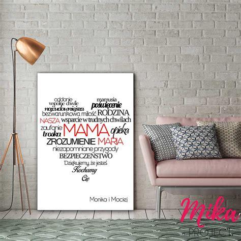Plakat Mika by Prezent Na Dzień Mamy Spersonalizowany Plakat Mika Project