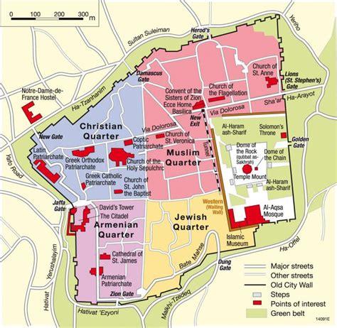 city jerusalem map maps jerusalem holy city for three world religions