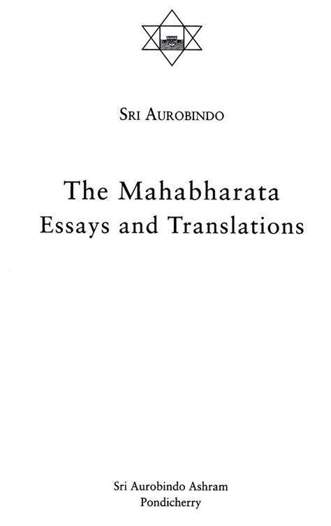 Translation Essay by The Mahabharata Essays And Translations