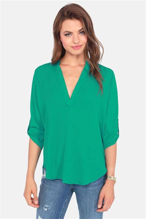 v sionary emerald green top