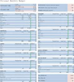 simple monthly budget template simple monthly budget template for excel pdf and word