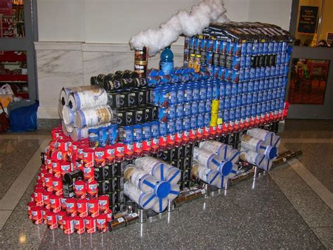 how to build a canned food sculpture simply creative canned food sculptures of canstruction