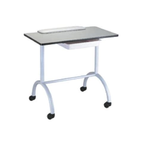 Cheap White Laminated Top Manicure Nail Table With Drawer White Manicure Table
