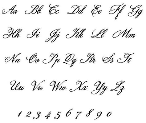 tattoo fonts elegant fancy cursive letter t wedding font easy craft items