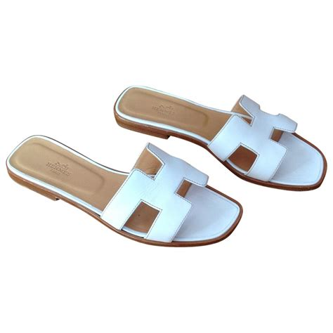 hermes womens sandals herm 200 s sandals herm 200 s white size 39 eu in leather