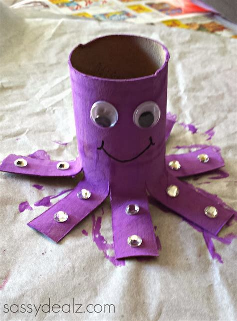 Crafts Made Out Of Toilet Paper Rolls - octopus toilet paper roll craft for crafty morning