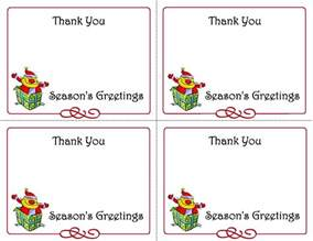 5 best images of printable christmas thank you card