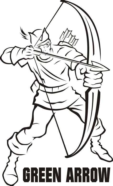 Free On The Arrow Coloring Pages Green Arrow Coloring Pages
