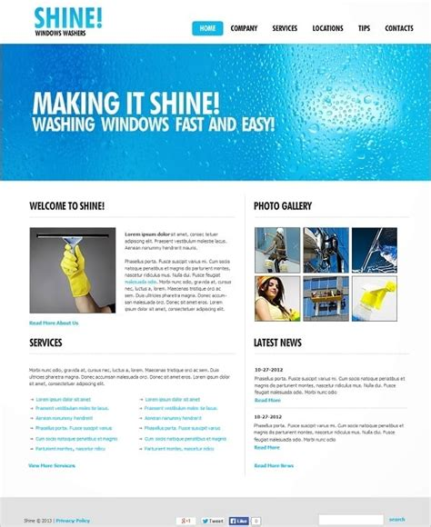 Cleaning Company Website Templates Sparkling Solution For Business Cleaning Service Website Template