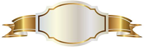 gold wallpaper png white label and gold banner png clipart image clipart