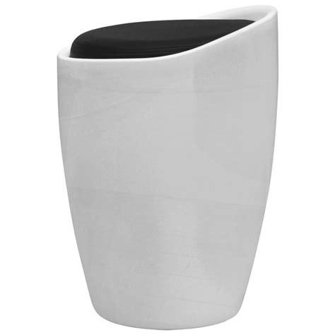 sgabello abs sgabello in abs bianco rotondo con sedile rimovibile nero