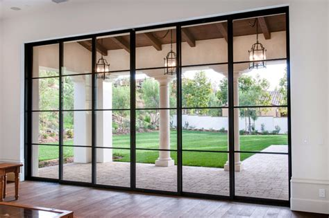 Pocket Sliding Patio Doors Steel Pocket Sliding Doors Mediterranean Patio Orange County By Euroline Steel Windows