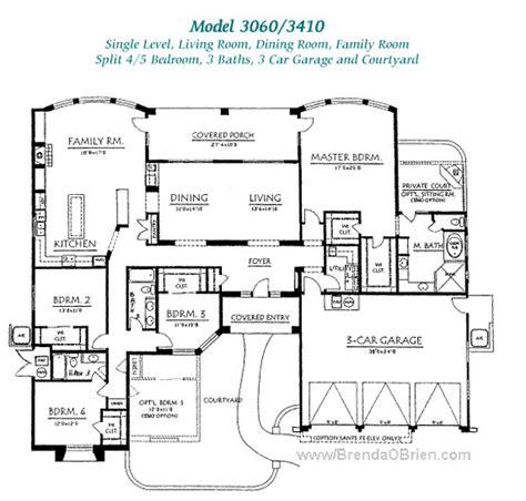 Four Bedroom House Plans One Story pusch ridge vistas ii floor plan model 3060