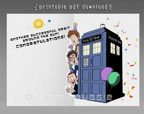 Happy Birthday Doctor Who Card