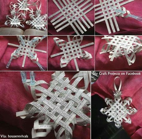 pattern for woven snowflake ornament woven paper star ornament craft ideas pinterest