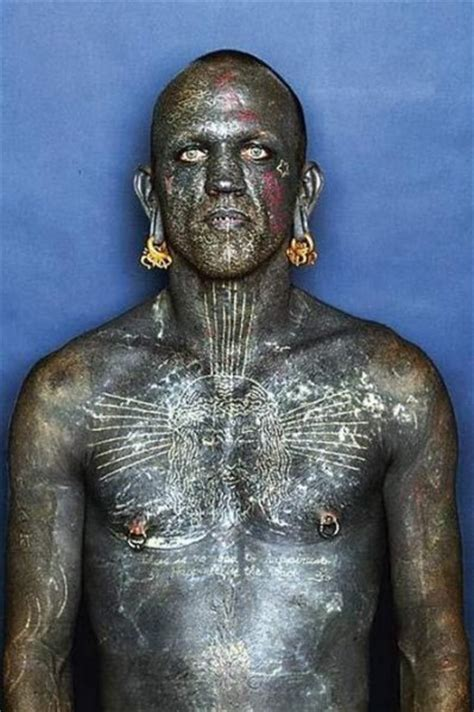 extreme tattoo man weirdest people record holders of guinness book odd