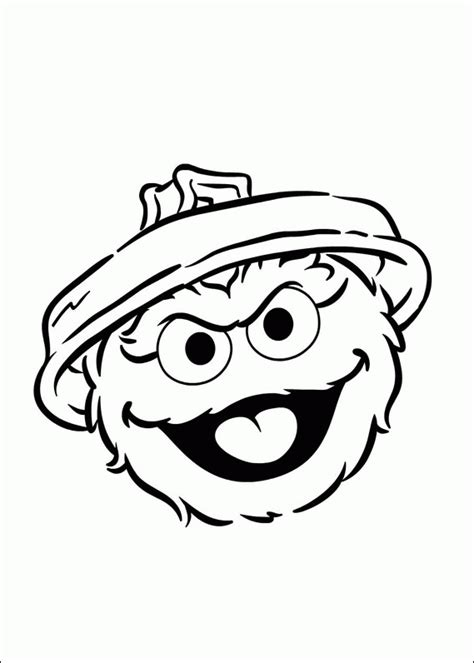 Free Coloring Pages Of Big Bird Face Template Oscar The Grouch Coloring Pages