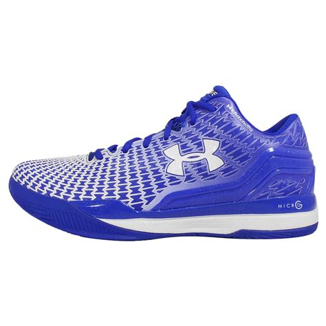 armour blue basketball shoes armour ua clutchfit drive low blue white mens