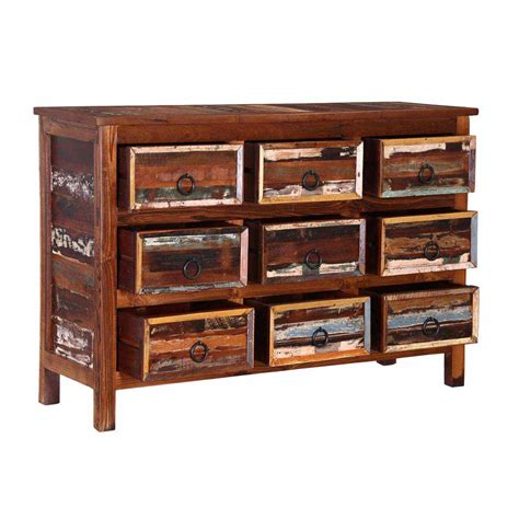 Rustic Chic Dresser by California Chic Handcrafted 9 Drawer Rustic Solid Wood