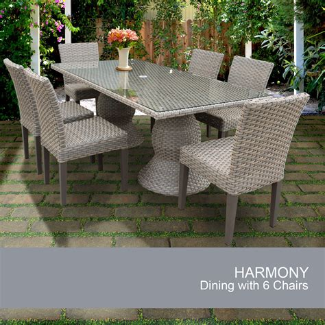 rectangle patio dining table harmony rectangular outdoor patio dining table with 6 chairs