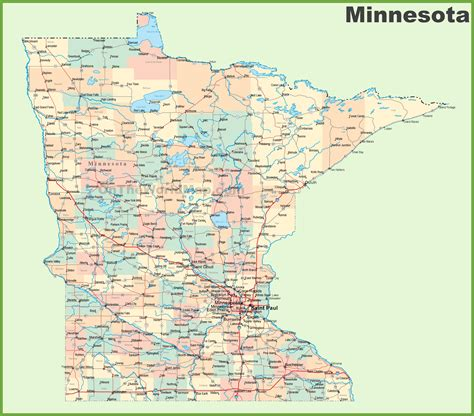State Of Mn Records Mn Map Of Cities My