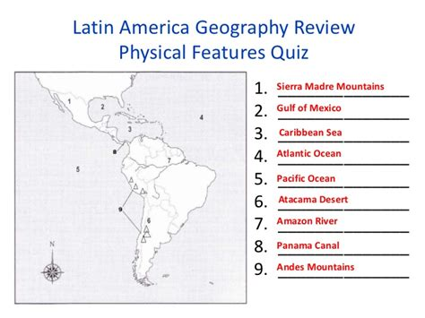 america map quiz physical features semester 1 social studies review