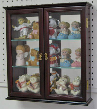 Wall Curio Cabinet Glass Doors by Wall Curio Cabinets Wall Mounted Curios Save Space