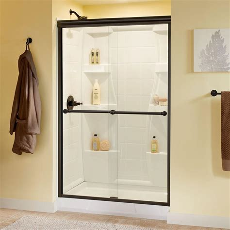 Delta Phoebe 48 In X 70 In Semi Frameless Sliding Shower Semi Frameless Sliding Shower Door