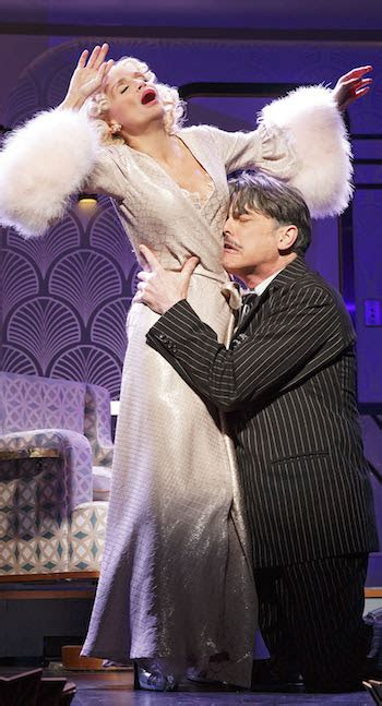 kristin chenoweth cuddles peter gallagher for on the on the twentieth century review kristin chenoweth peter