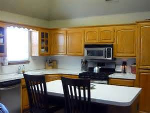 Kitchen paint color with light oak cabinets
