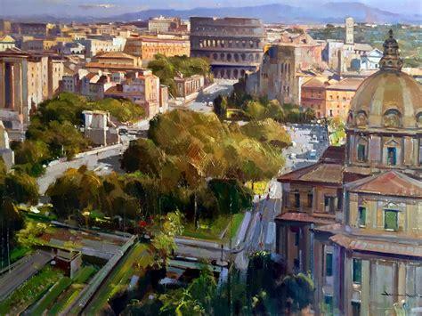 olio su tavola roma olio su tavola painting 70x100 cm dipinti