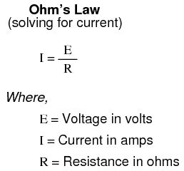 resistor current formula ohm s basic concepts and test equipment electronics textbook
