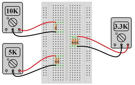 resistor on breadboard series and parallel circuits learn sparkfun