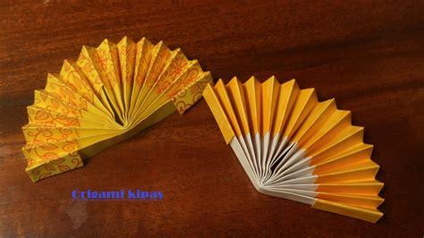 cara membuat bunga kipas kertas cara membuat origami kipas tangan kertas youtube